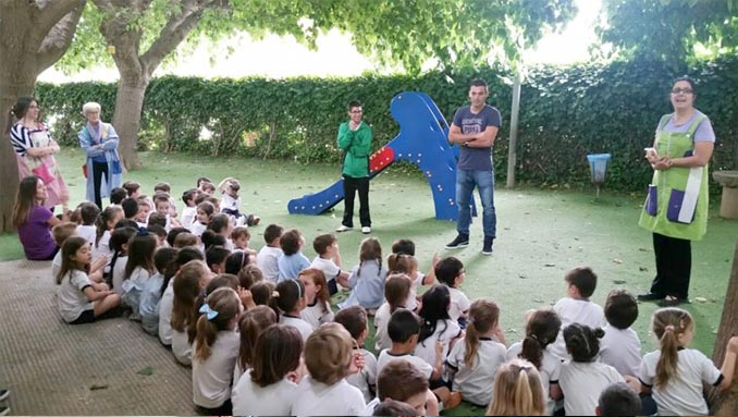 David Barral visita Colegio El Prat